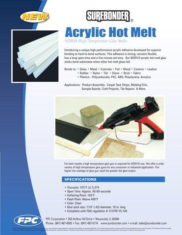 Surebonder 925 Acrylic Hot Melt High Temperature Glue