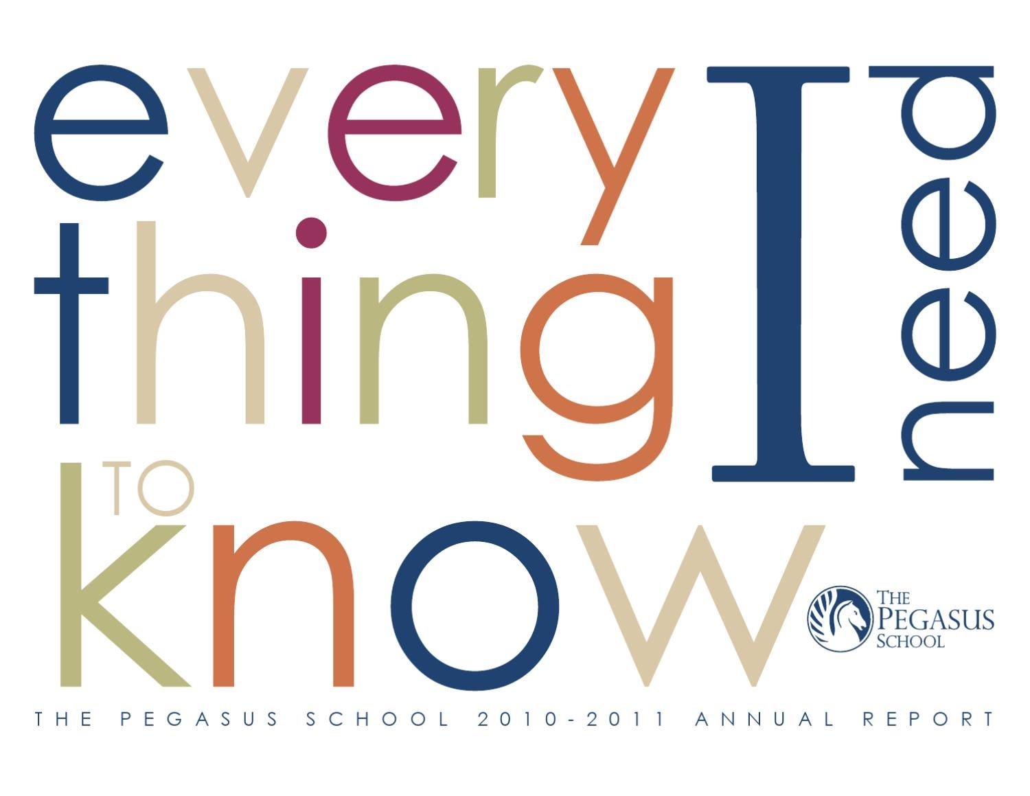 Annual Report 2010_11 by The Pegasus School - issuu