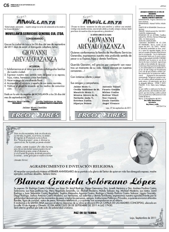 Diario La Hora Loja 28 De Septiembre 2011 By Diario La Hora Ecuador