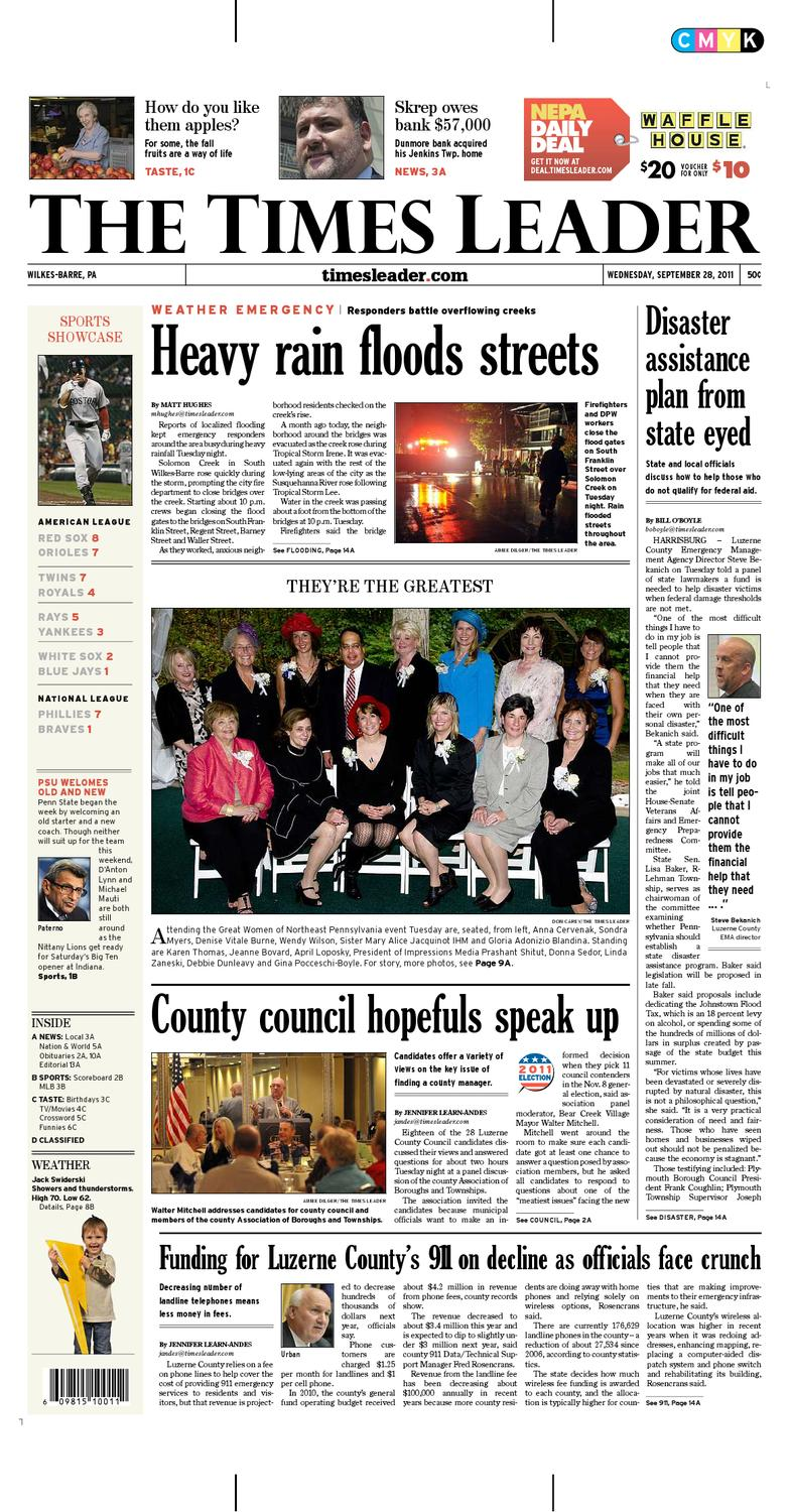 a36e711b9 Times Leader 09-28-2011 by The Wilkes-Barre Publishing Company - issuu