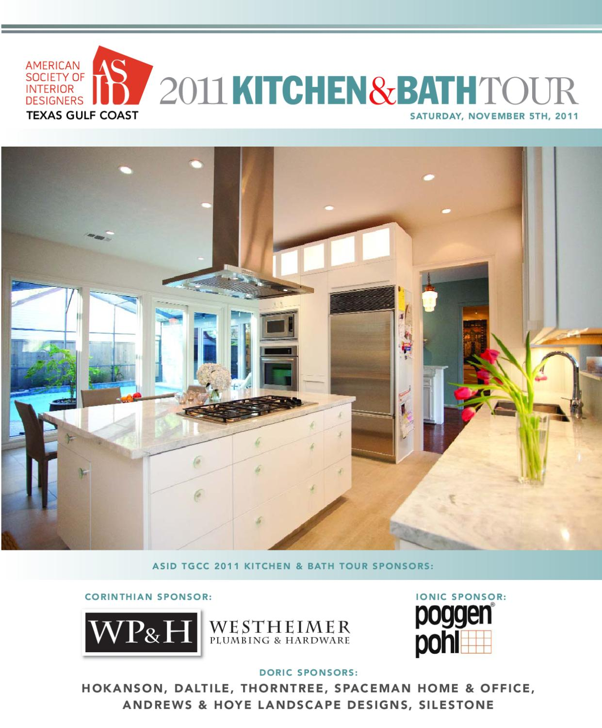 Asid tgc 2011 kitchen bath tour guide by houston house for Asid gulf coast chapter