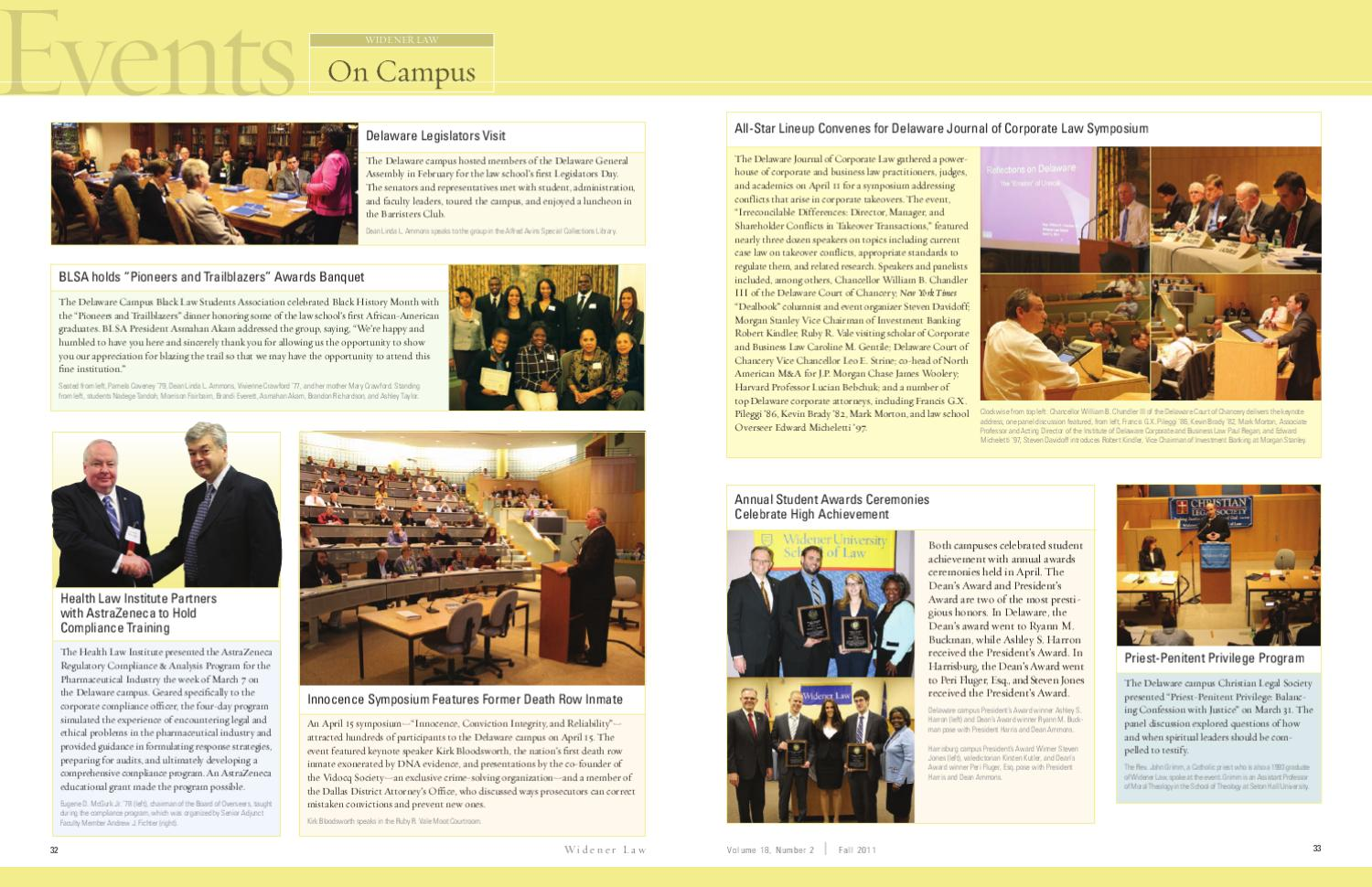 Widener Law Magazine Fall 2011 - Widener Law School by