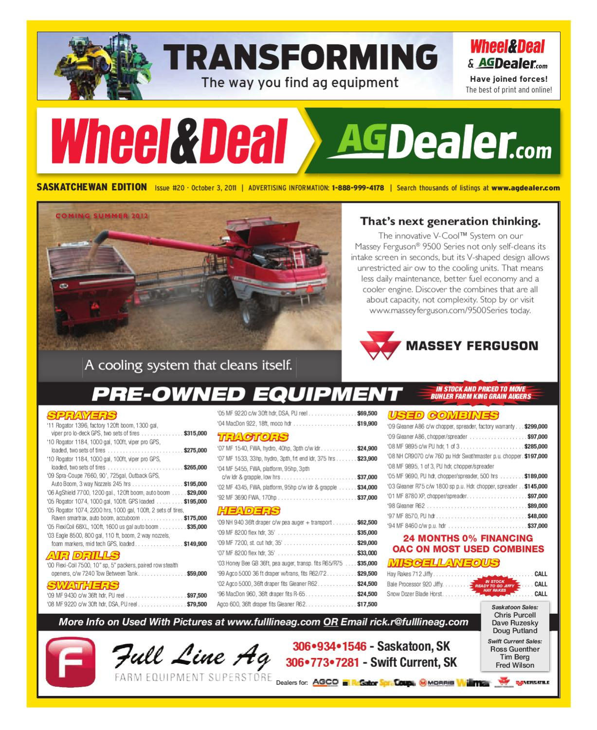 Wheel Amp Deal Saskatchewan October 3 2011 By Farm Business Yz80 Wiring Diagrams And Electrical Components Trouble Shoot Problems Communications Issuu