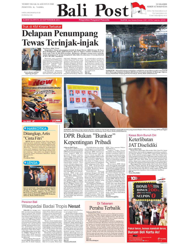 Edisi 29 September 2011 Balipostcom By E Paper Kmb Issuu Produk Umkm Bumn Lapis Surabaya Panjang Hj Enong