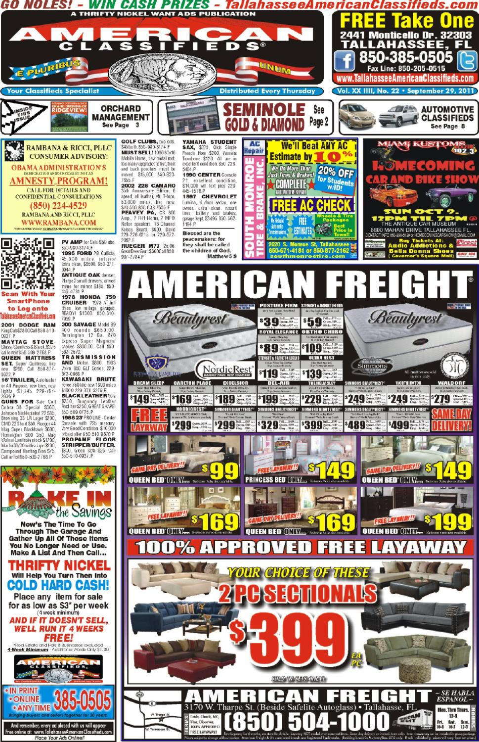 Tallahassee american classifieds issue 09 29 11 by - Craigslist tallahassee farm and garden ...