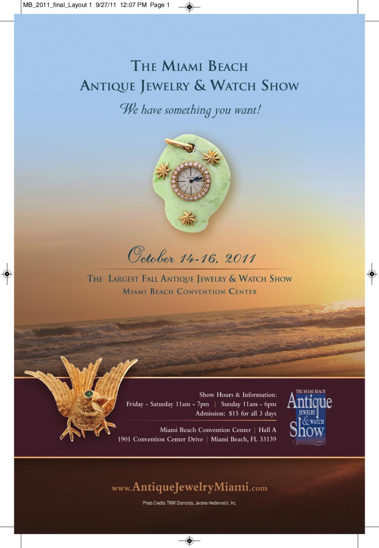 Miami beach antique jewelry watch show 2011 by u s for Miami beach jewelry watch show