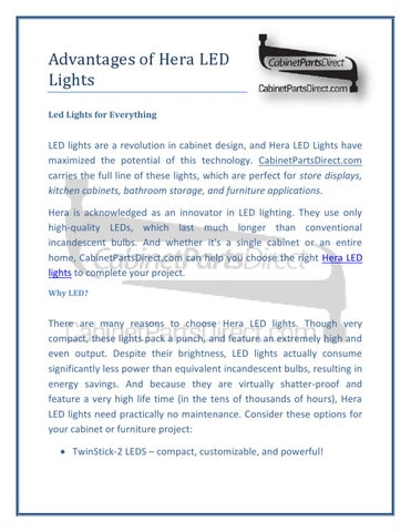 Advantages of Hera LED Lights by Cabinet Parts
