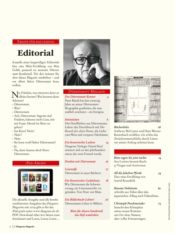 Diogenes Magazin Nr 8 By Diogenesverlag Issuu