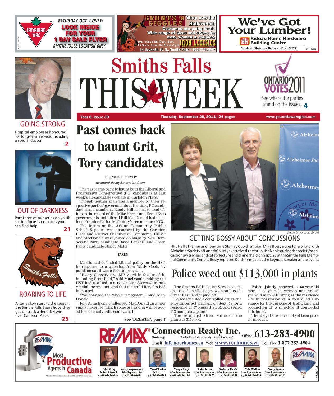 SmithsFallsThisWeek by Metroland Ottawa - issuu