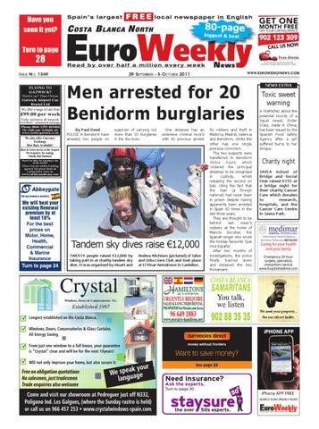 Costa Blanca North 29 September - 5 October 2011 Issue 1369