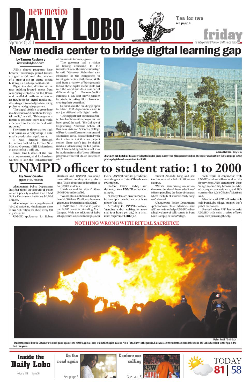 NM Daily Lobo 093011 by UNM Student Publications - issuu