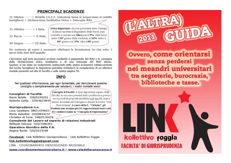Calendario Esami Unica Giurisprudenza.Altra Guida Link Kollettivo Giurisprudenza By Link Foggia