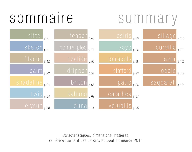 Catalogue Les Jardins Au Bout Du Monde 2011 By Asv Mobilier