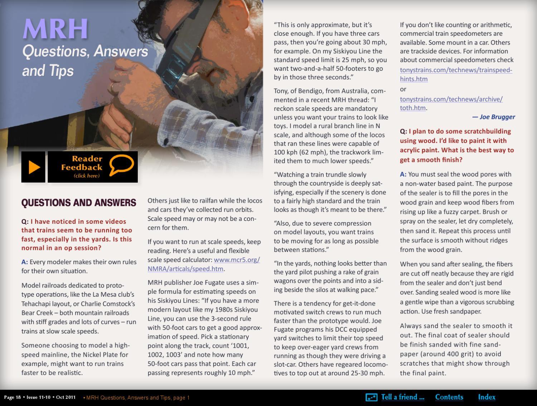 MRH Oct 2011 - Issue 20 by Model Railroad Hobbyist magazine - issuu