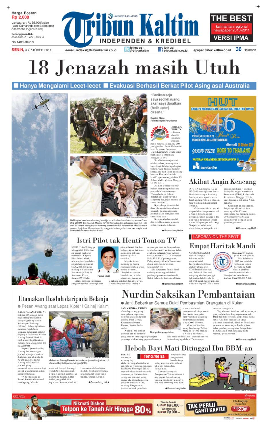 Tribunkaltim 03 Oktober 2011 By Tohir Tribun Issuu