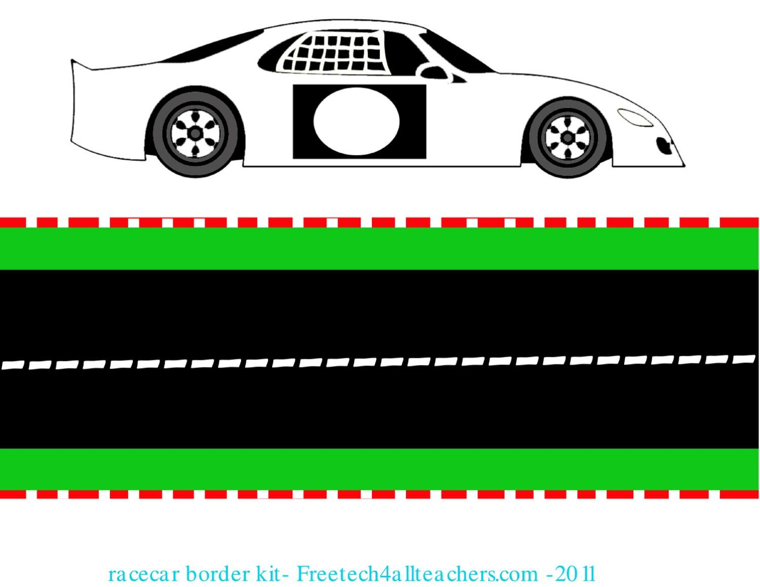 picture relating to Race Track Printable titled Absolutely free Printable Race monitor Border Package through Melonie Wallace - issuu