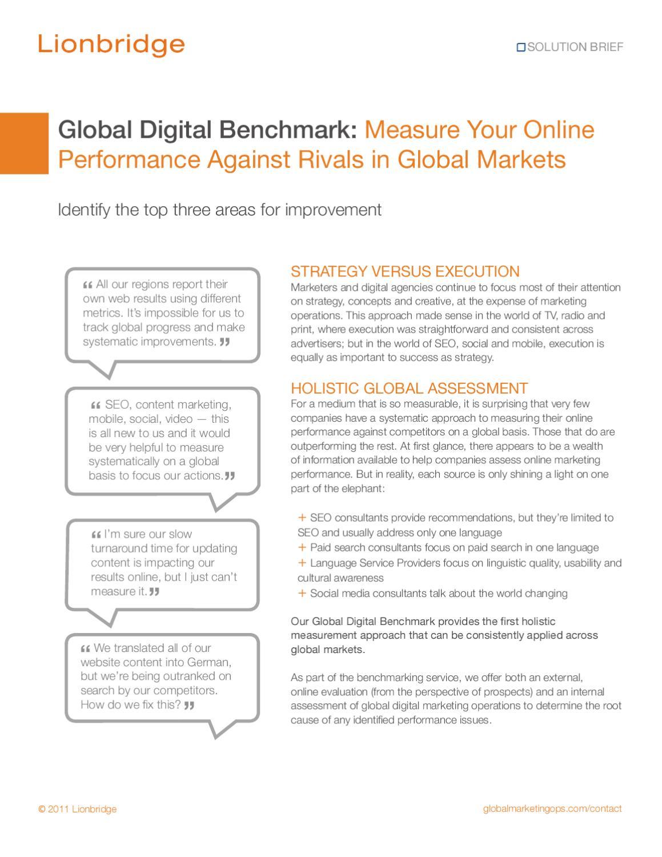 Lionbridge GMO Global Digital Benchmarking Solution Brief by Patrick