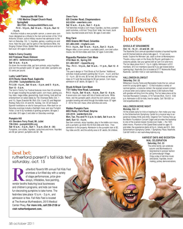 Sumner Parent Magazine Oct 2011