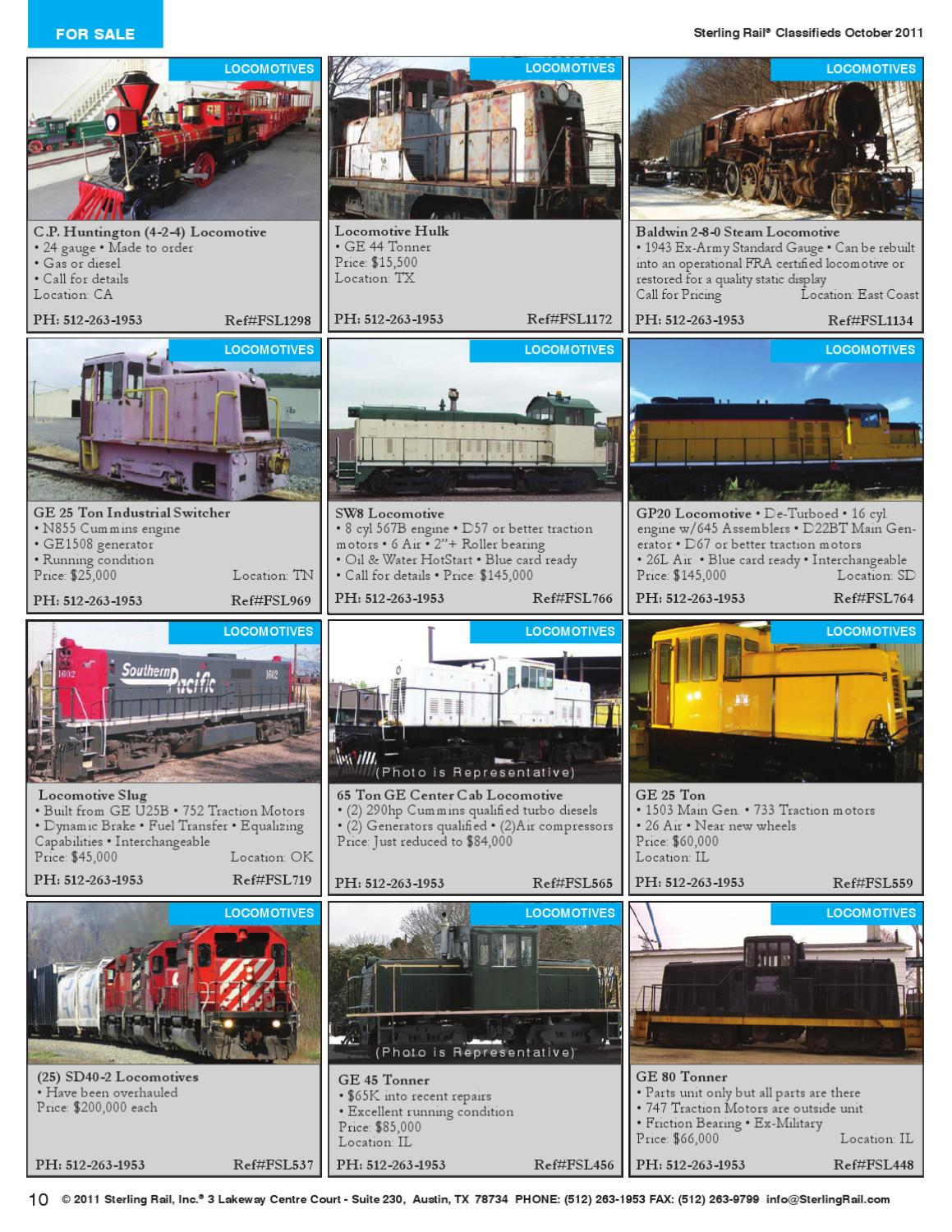 Sterling Rail® Classifieds October 2011 Issue by Sterling