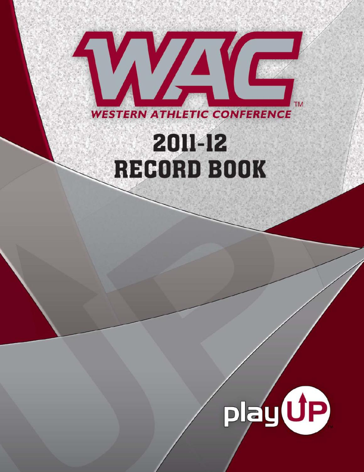 2011 12 Wac Record Book By Western Athletic Conference Issuu