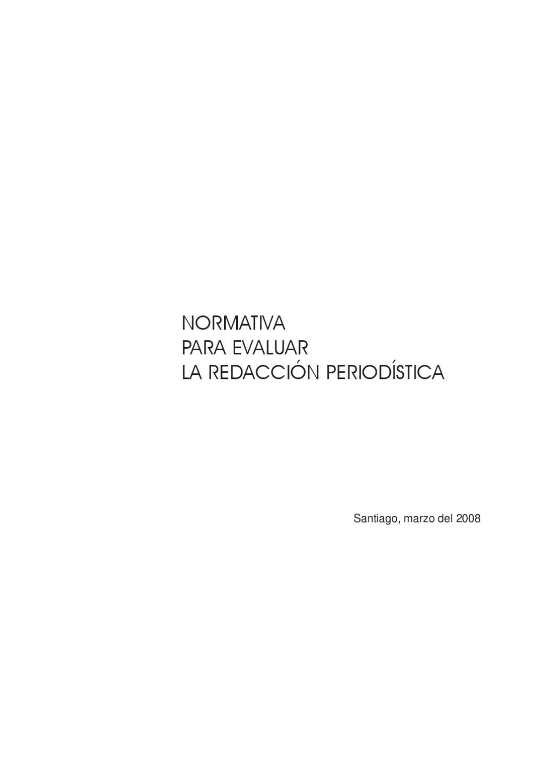 normativa_redaccion_periodistica by Javier Oquendo - issuu