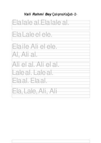 Calisma Kagidi 2 Ela Cumleler By Ali Nafiz Yazar Issuu