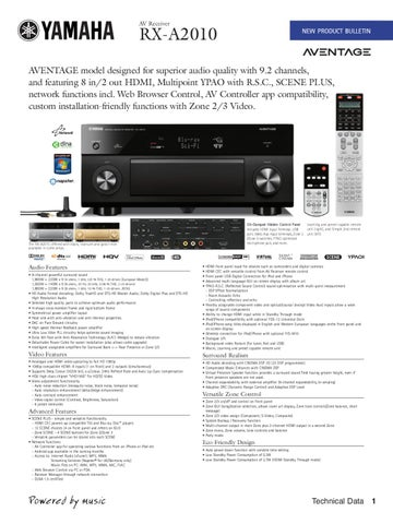 Yamaha AV Receiver RX-A2010 by SG ELECTRONICS - issuu