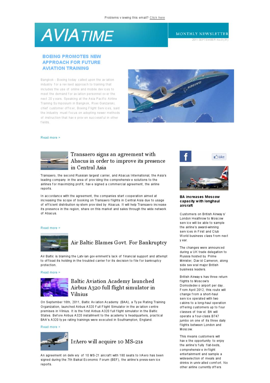 Avia Time, September 2011 by AeroTime - issuu