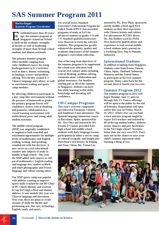 Crossroads October 2011 by Singapore American School - issuu