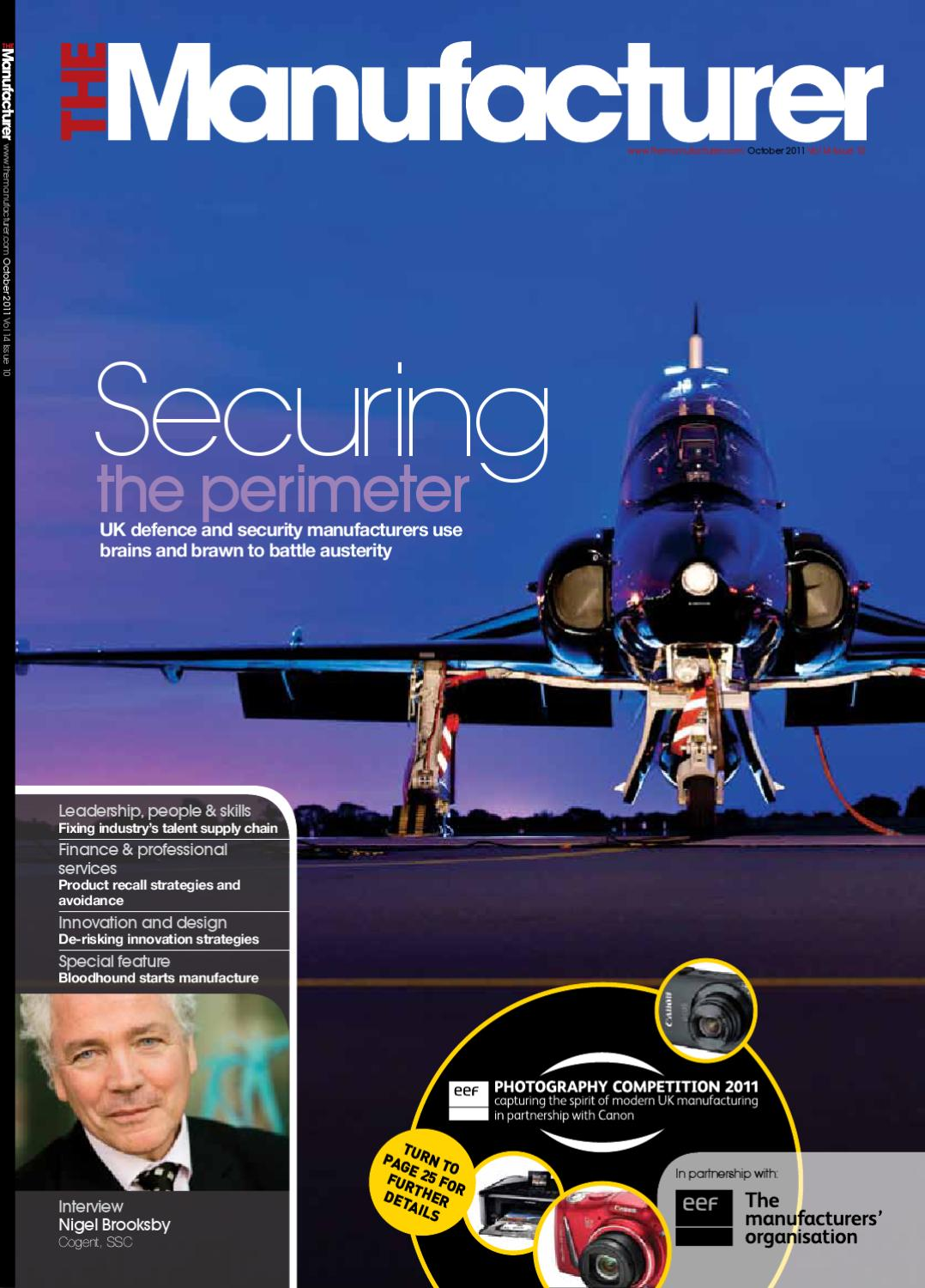 The Manufacturer October Issue 2011 By Issuu Kembrey Wiring Systems
