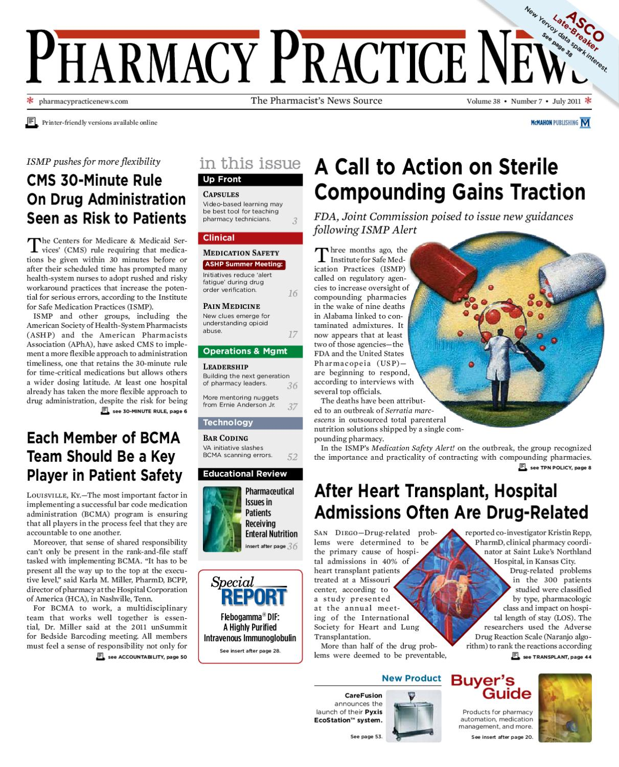 July 2011 Digital Edition Of Pharmacy Practice News By