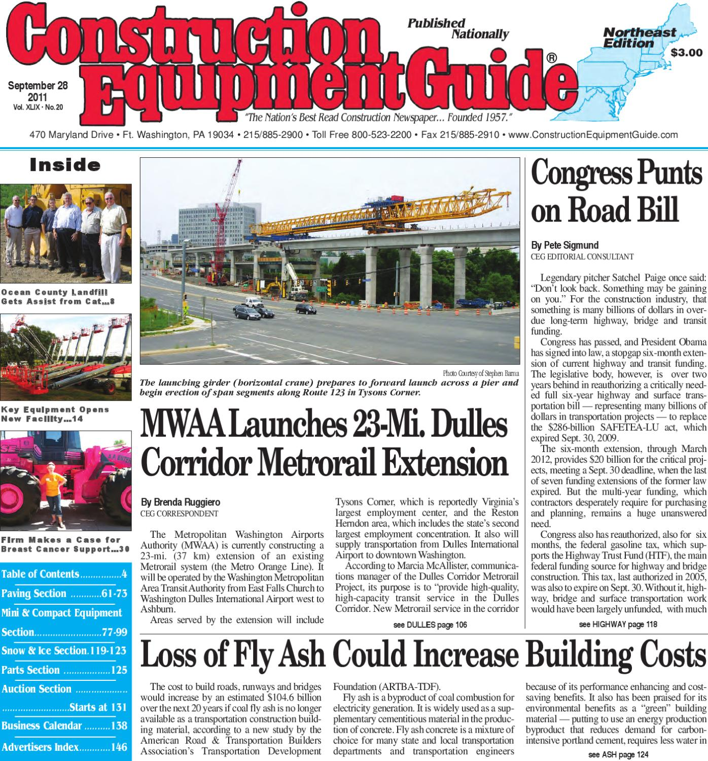 Northeast #20, 2011 by Construction Equipment Guide - issuu