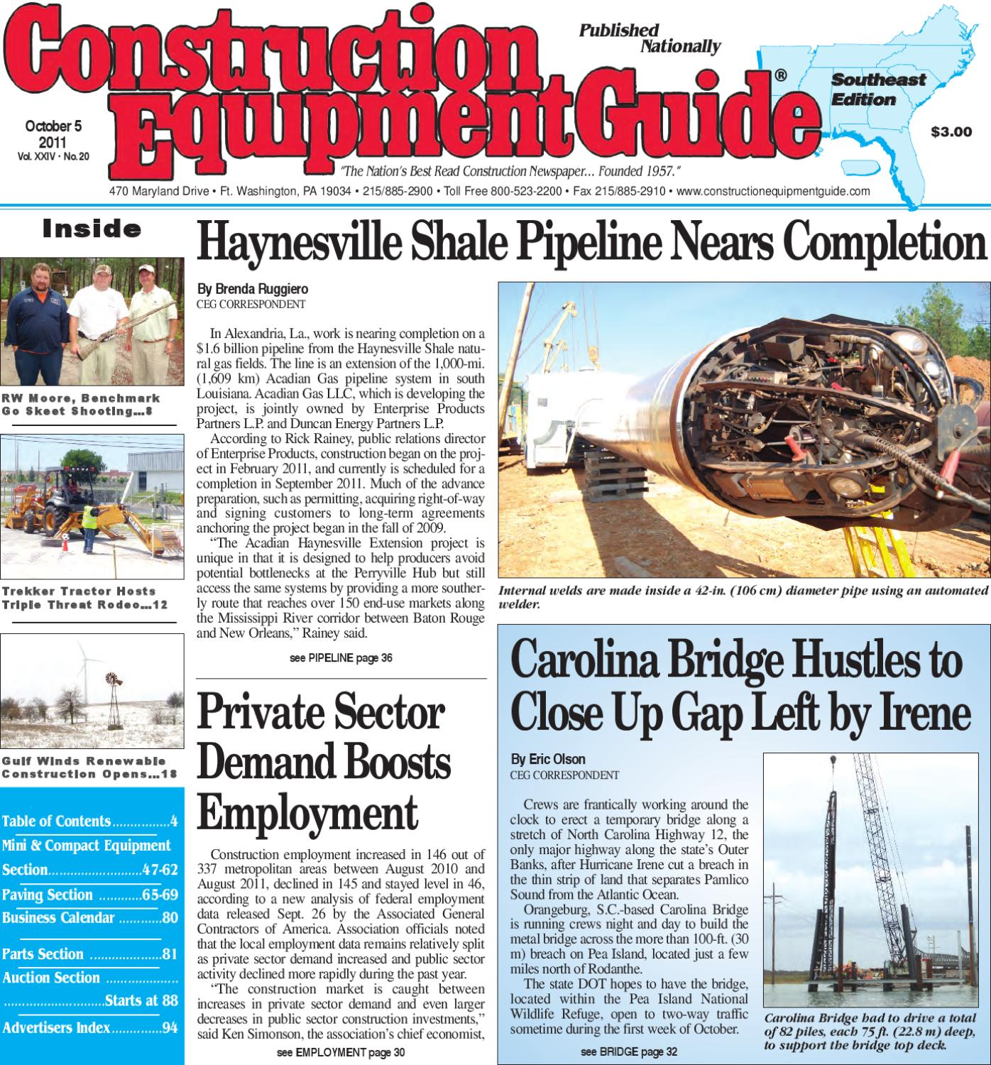 Southeast #20, 2011 by Construction Equipment Guide - issuu