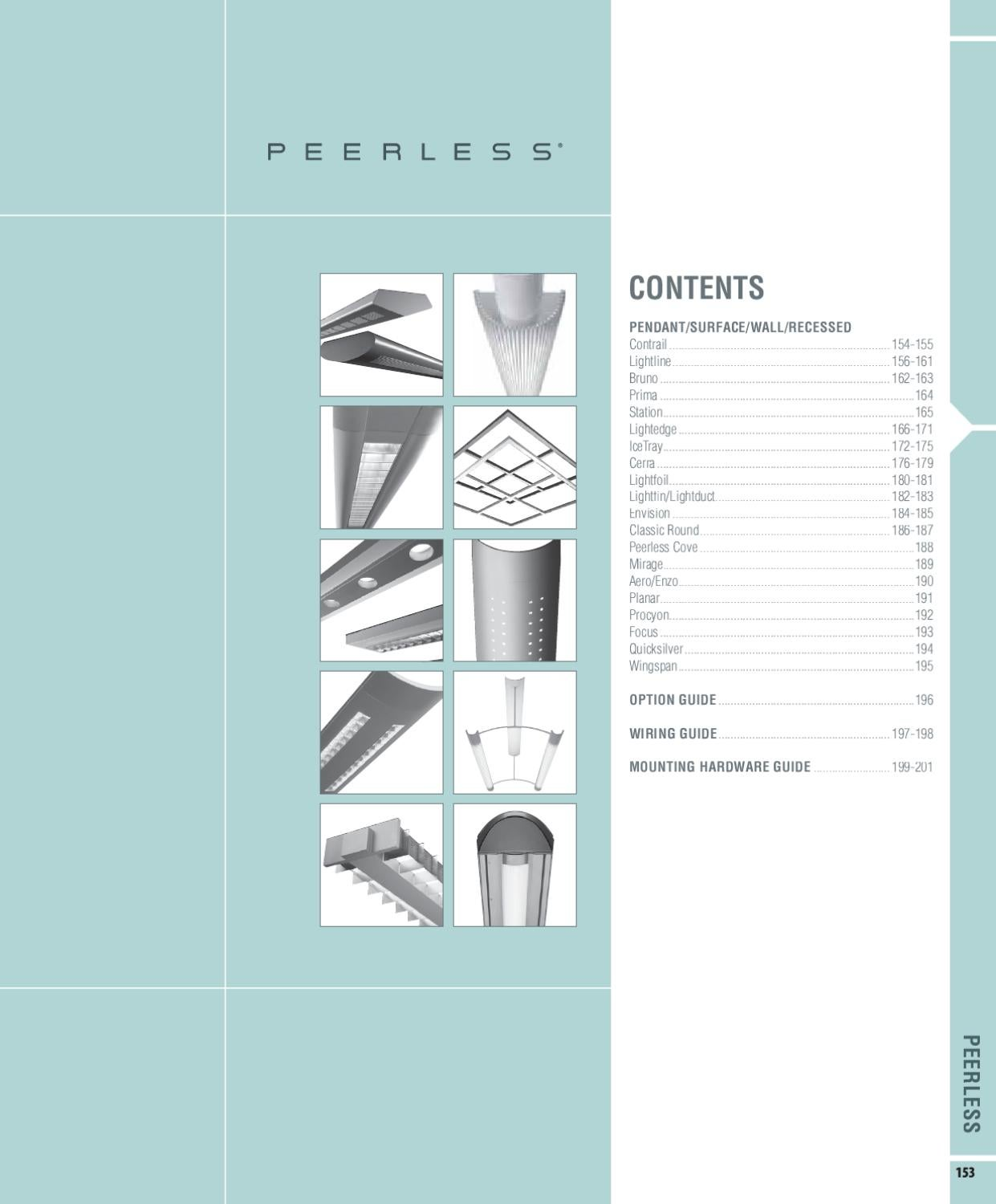 Peerless Lighting Catalog by Alcon Lighting - issuu