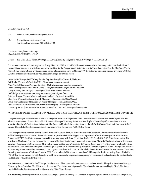 Tim Hall BOLI Complaint by Salem Weekly Newspaper - issuu