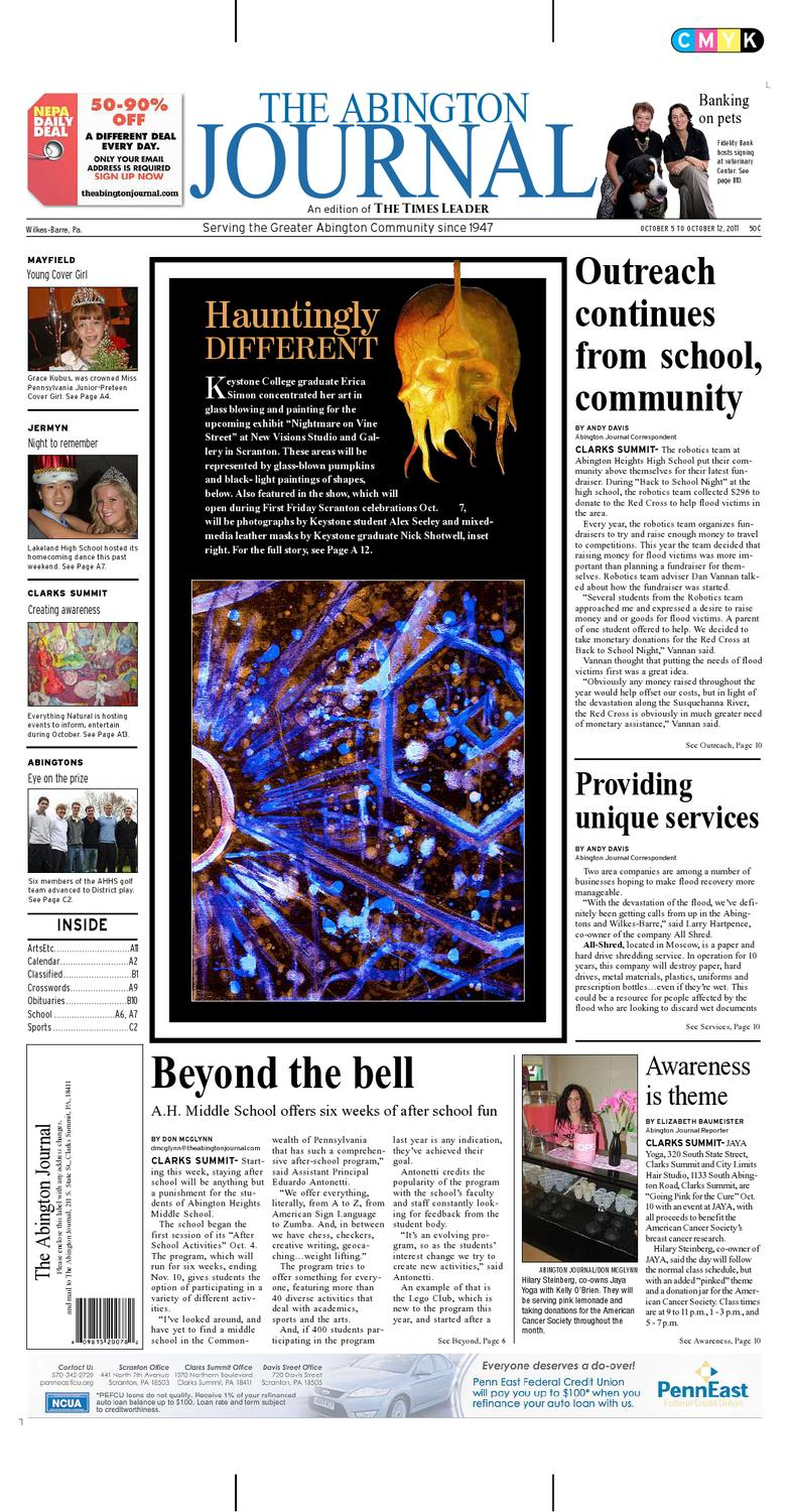 The Abington Journal 10 05 2011 By The Wilkes Barre