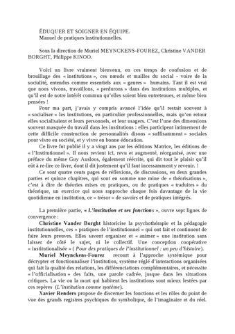 Eduquer Et Soigner By Jacques Pain Issuu
