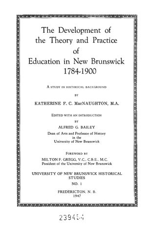 The development of the theory and practice of education in new the development of the theory and practice of education in new brunswick 17841900 a fandeluxe Choice Image