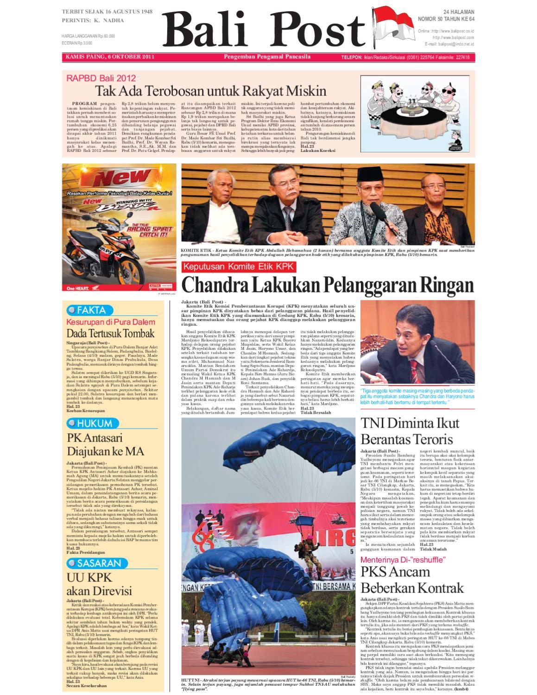 Edisi 06 Oktober 2011 Balipostcom By E Paper Kmb Issuu Jam Tangan Pria Qampampq De10 Original Bergaransi