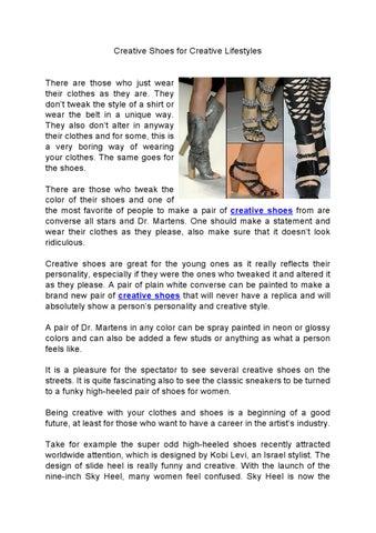 f8266ff55fa Creative Shoes for Creative Lifestyles