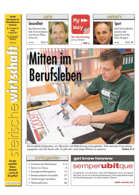 Steirische Wirtschaft, Ausgabe 33 by Wirtschaftskammer Steiermark ...