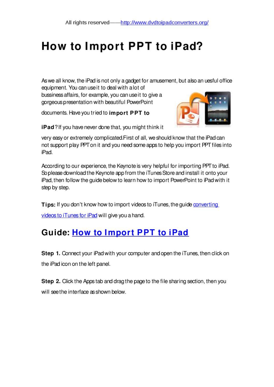 import PPT to iPad by chilinono vi - issuu