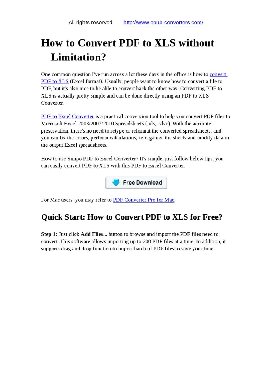 Convert PDF to XLS by lei fuman - issuu