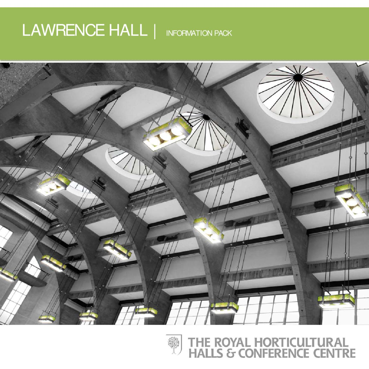 Lawrence Hall Information Pack By The Royal Horticultural