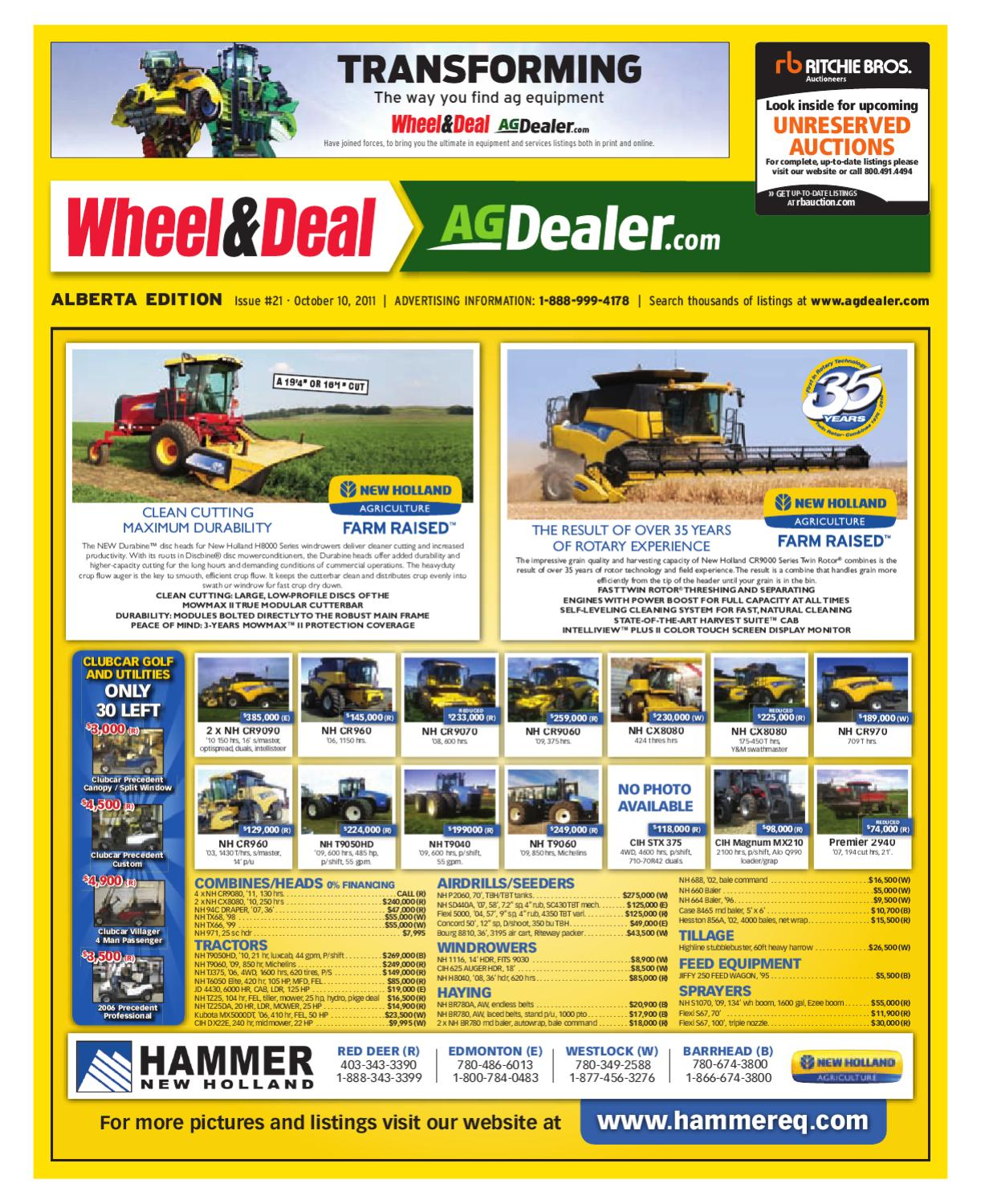 Wheel & Deal Alberta, October 10, 2011 by Farm Business ... on