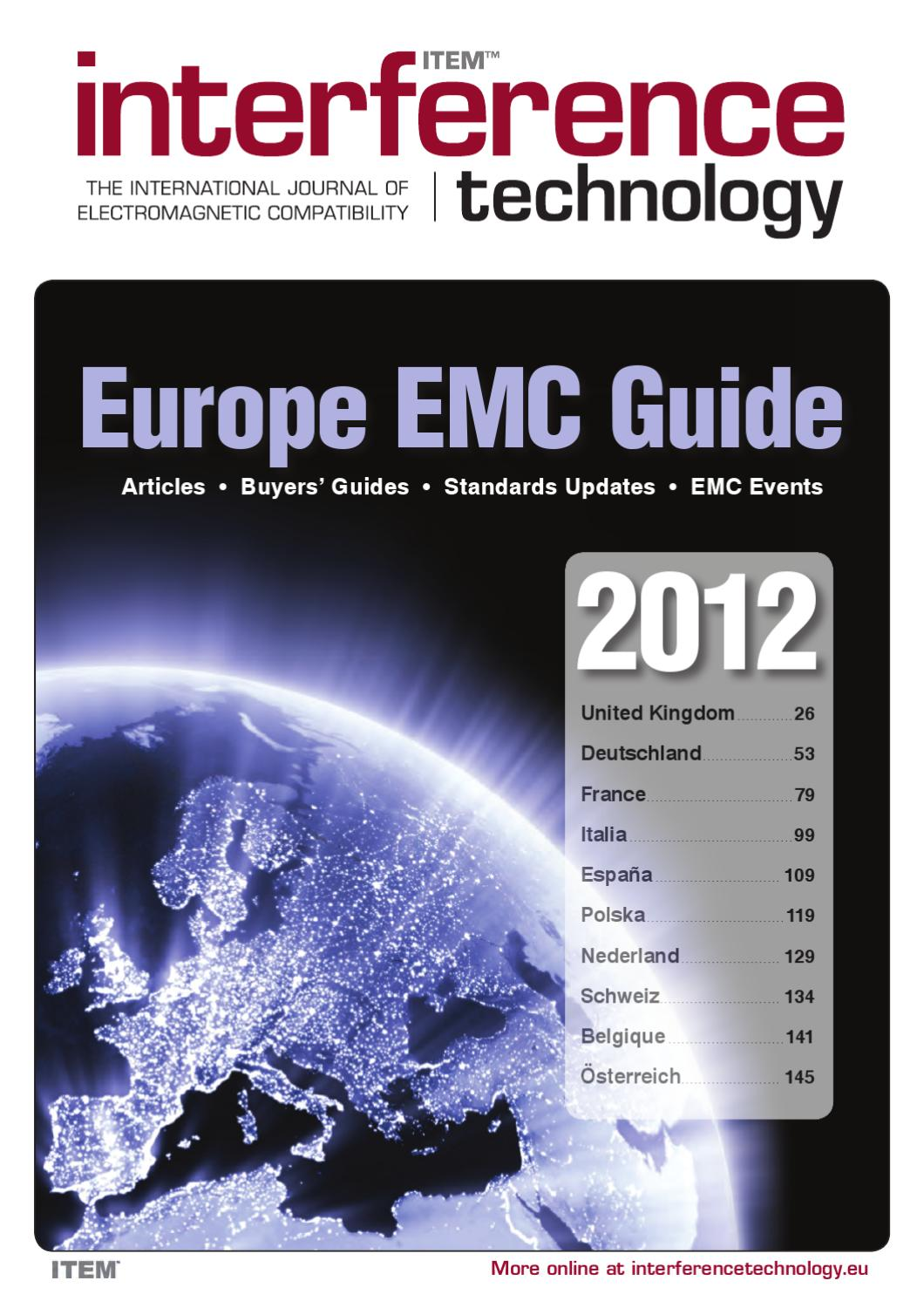 2012 Europe EMC Guide by ITEM Media - issuu