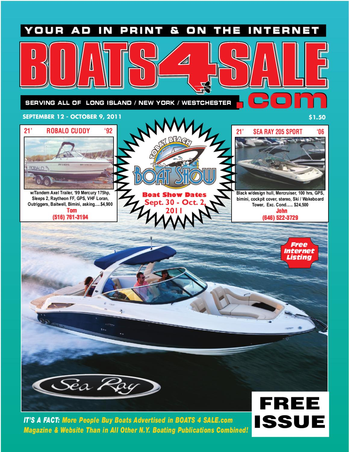 Boats4Sale.com Sept 12 - Oct 9, 2011 by Boats4Sale.com Media - issuu
