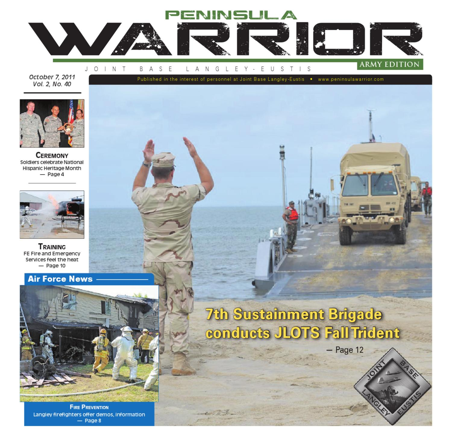 Peninsula Warrior Oct 7 2011 Army Edition By Military News