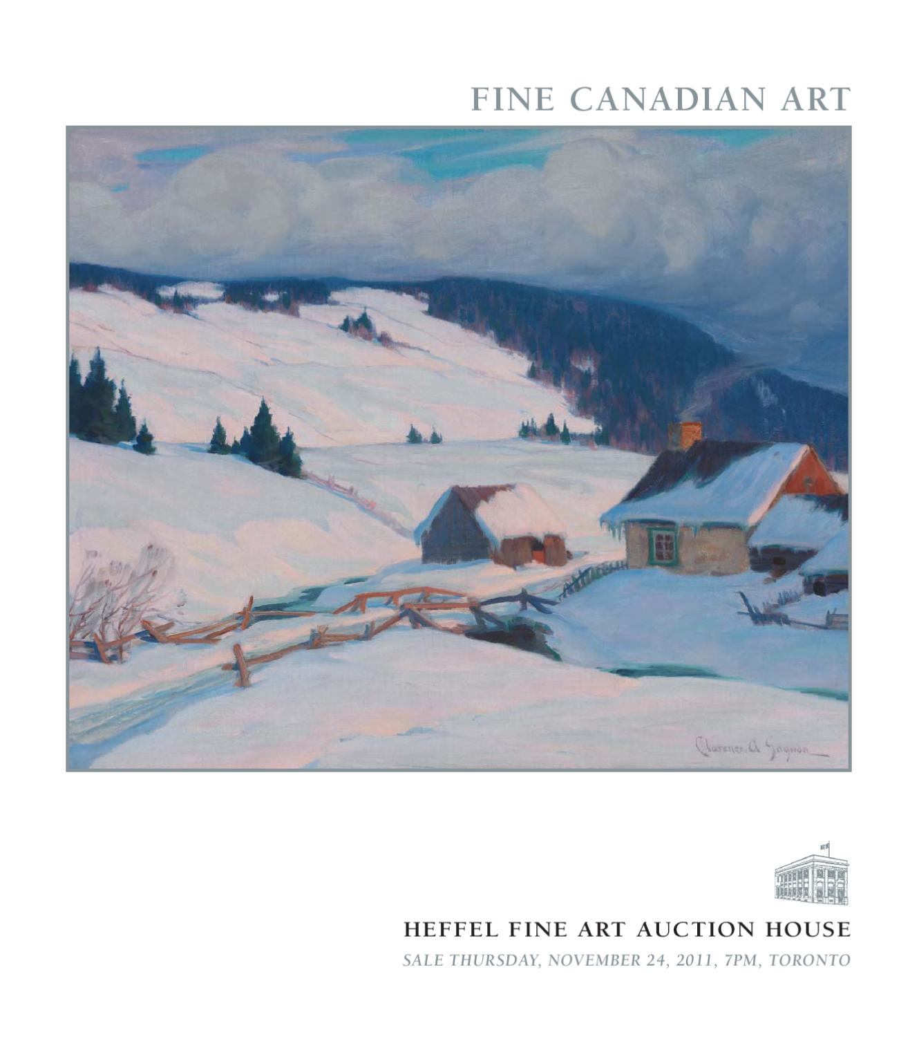 Heffel S Fine Canadian Art November 24 2011 By Heffel Fine Art  # Meuble Tv Luminescence