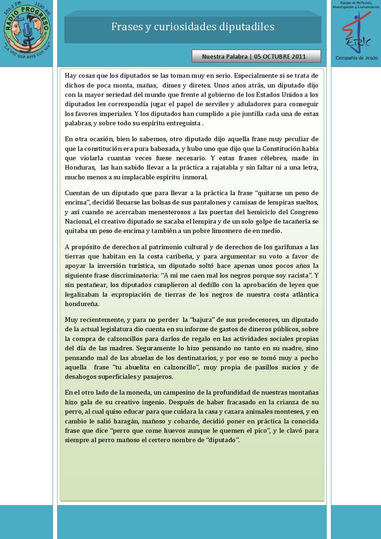 5 De Octubre De 2011 Frases Y Curiosidades Diputadiles By